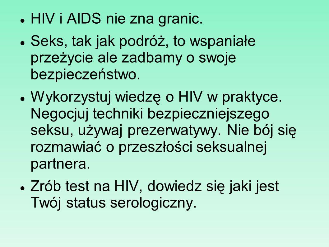 HIV i AIDS nie zna granic.