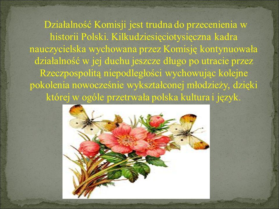 Działalność Komisji jest trudna do przecenienia w historii Polski
