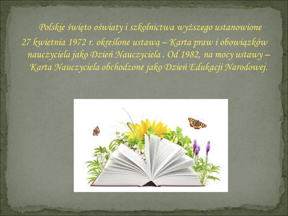Polskie święto oświaty i szkolnictwa wyższego ustanowione