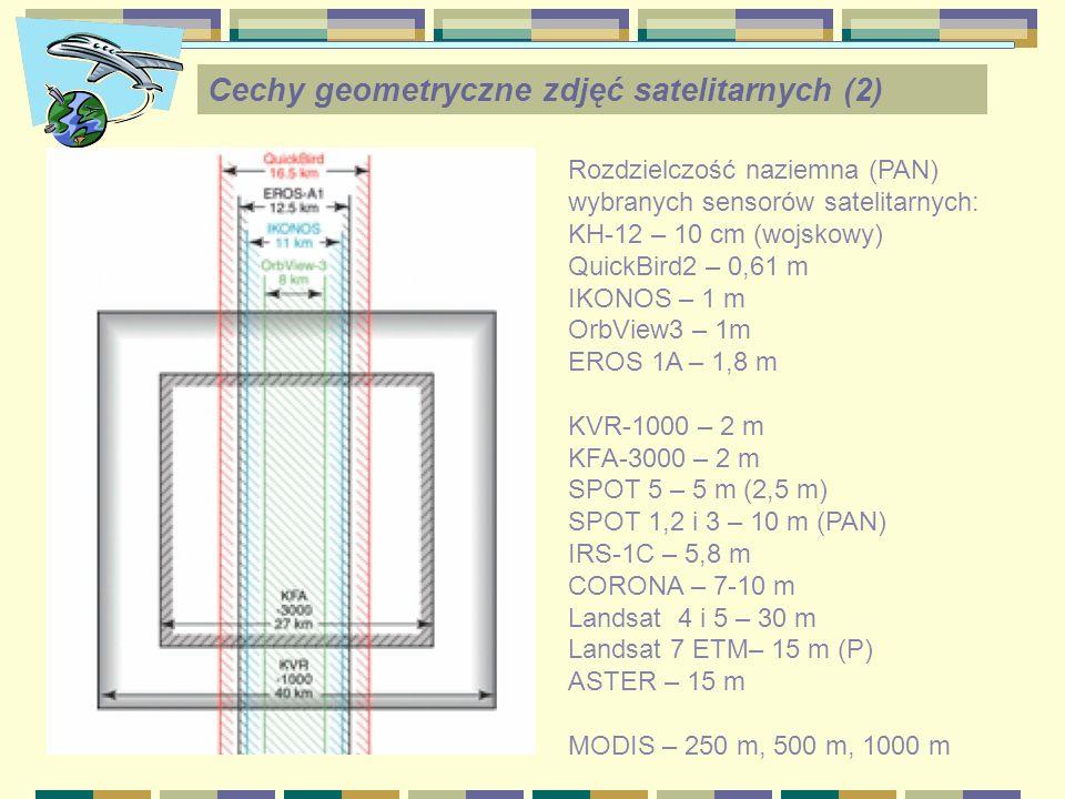 Cechy geometryczne zdjęć satelitarnych (2)