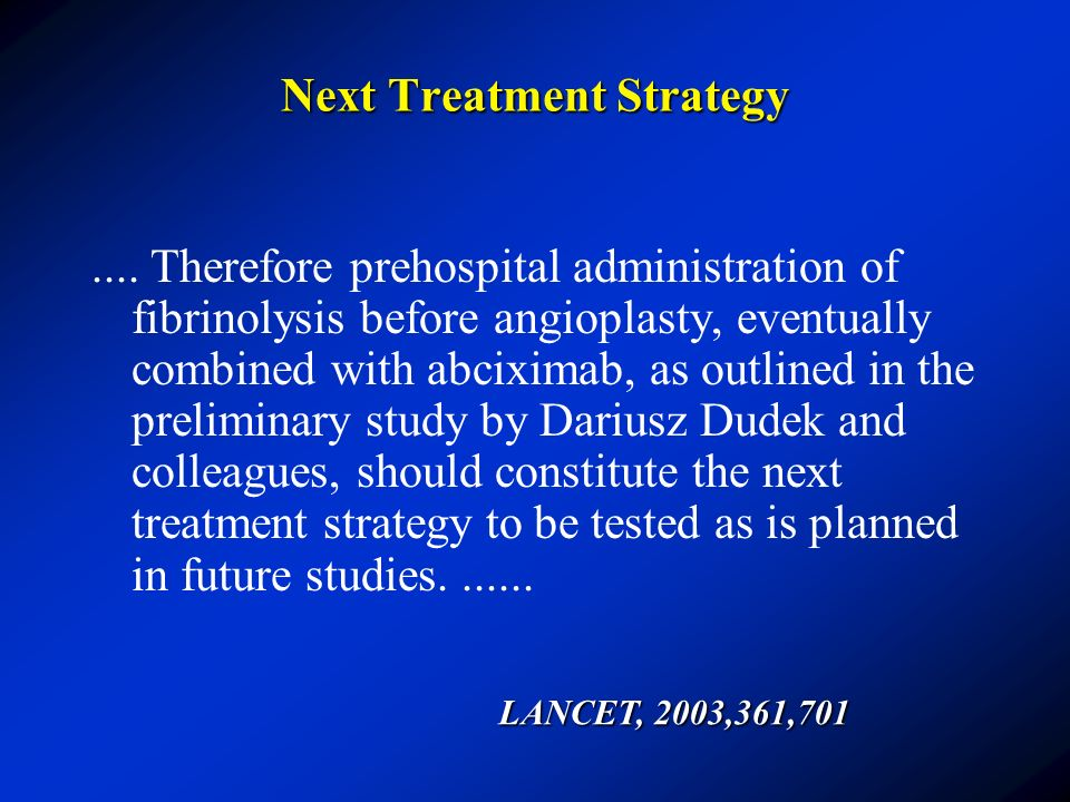 Next Treatment Strategy