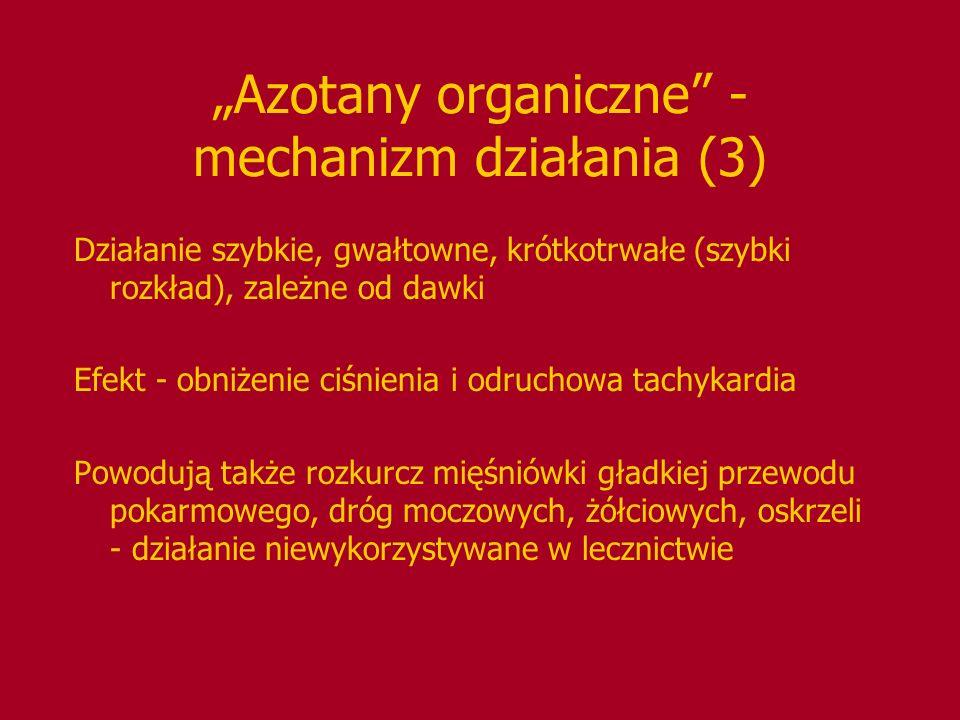 """""""Azotany organiczne - mechanizm działania (3)"""