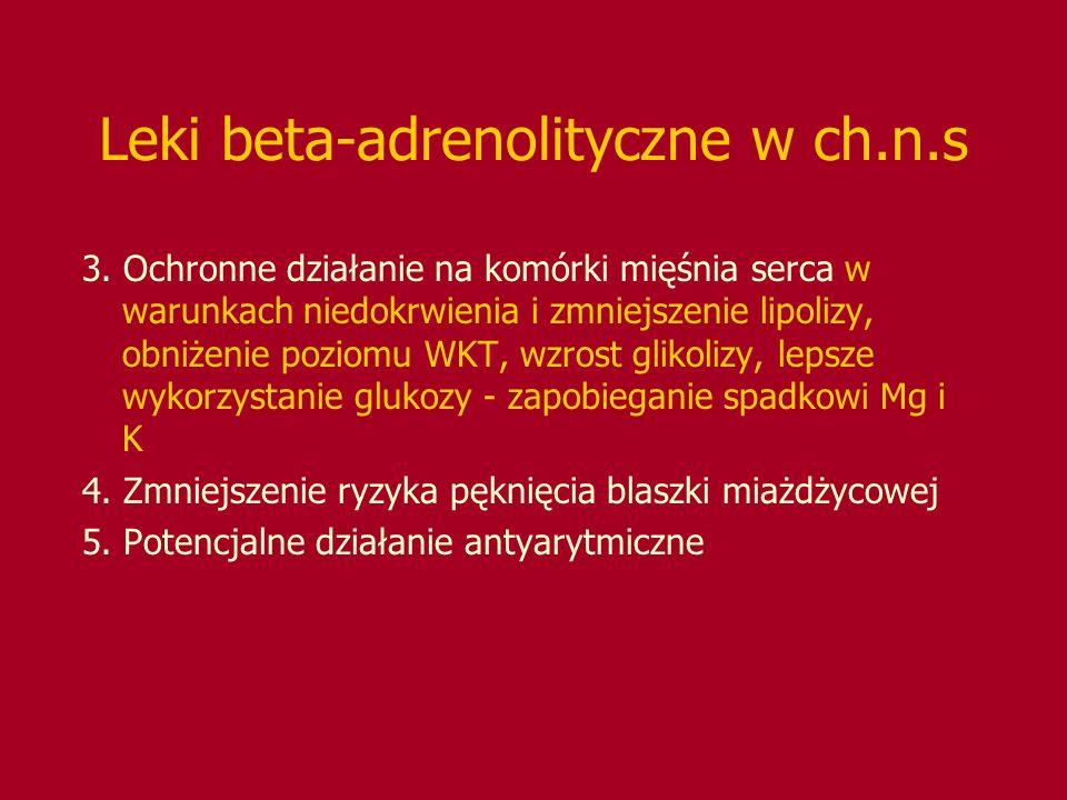 Leki beta-adrenolityczne w ch.n.s
