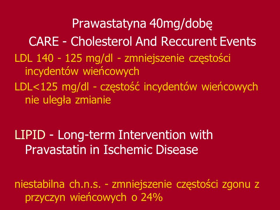CARE - Cholesterol And Reccurent Events
