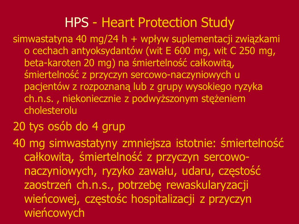 HPS - Heart Protection Study
