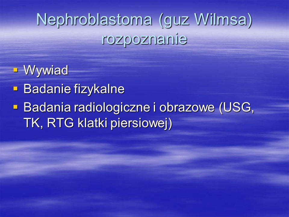 Nephroblastoma (guz Wilmsa) rozpoznanie