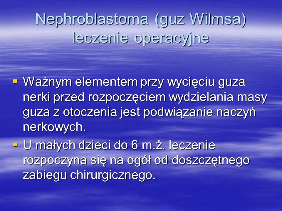 Nephroblastoma (guz Wilmsa) leczenie operacyjne