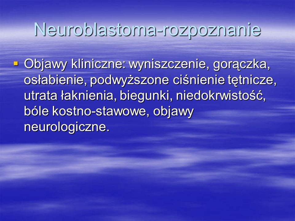Neuroblastoma-rozpoznanie
