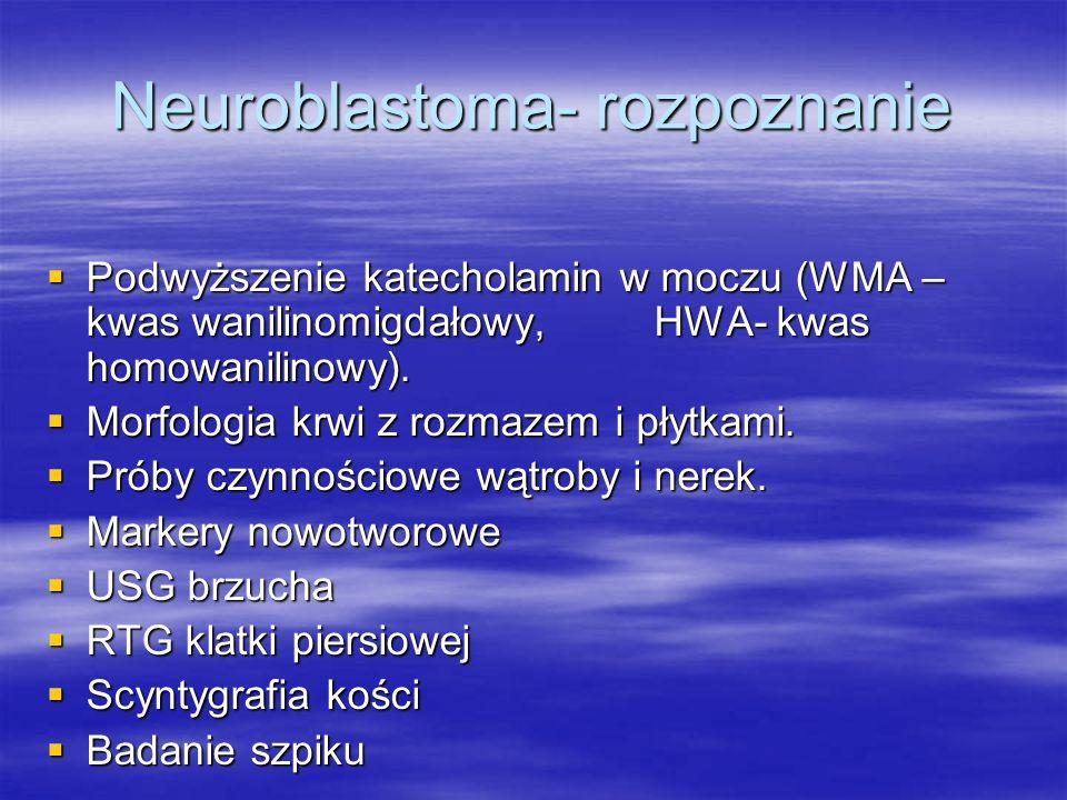 Neuroblastoma- rozpoznanie