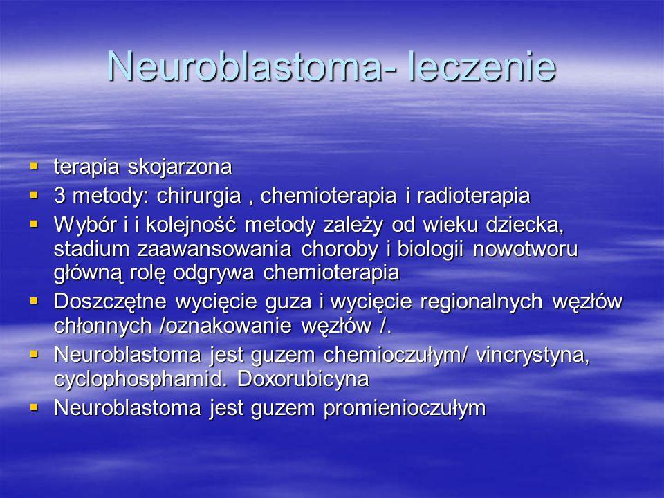 Neuroblastoma- leczenie
