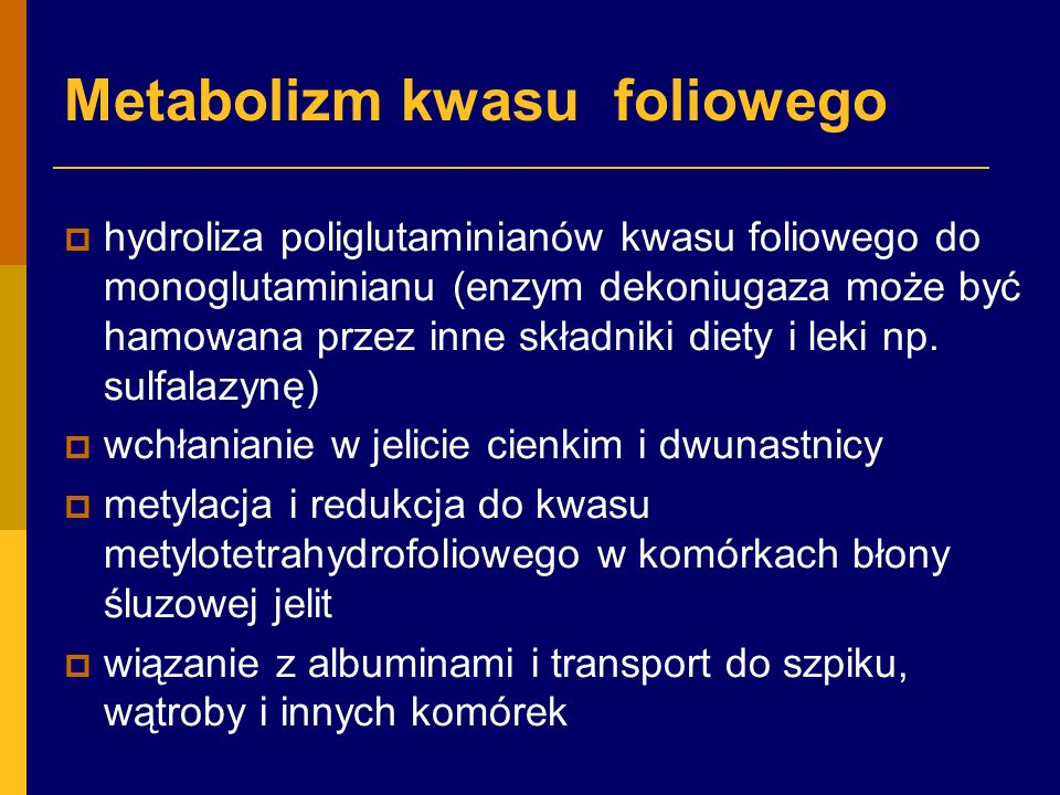 Metabolizm kwasu foliowego