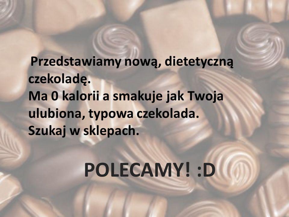Przedstawiamy nową, dietetyczną czekoladę