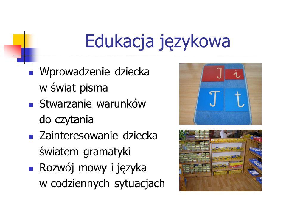 Edukacja językowa Wprowadzenie dziecka w świat pisma