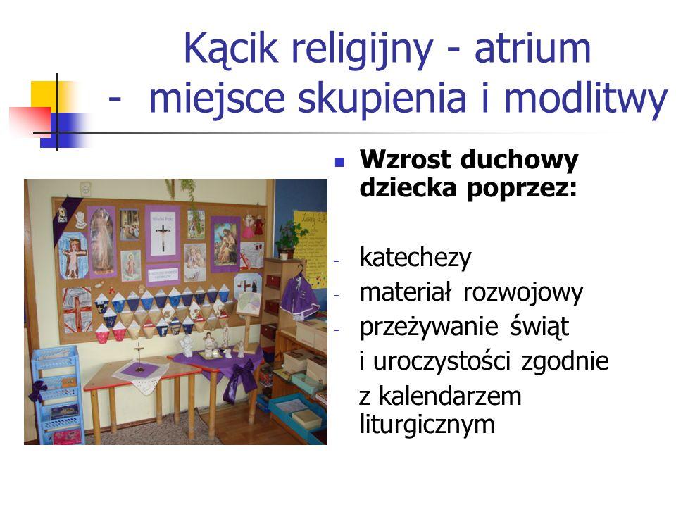 Kącik religijny - atrium - miejsce skupienia i modlitwy