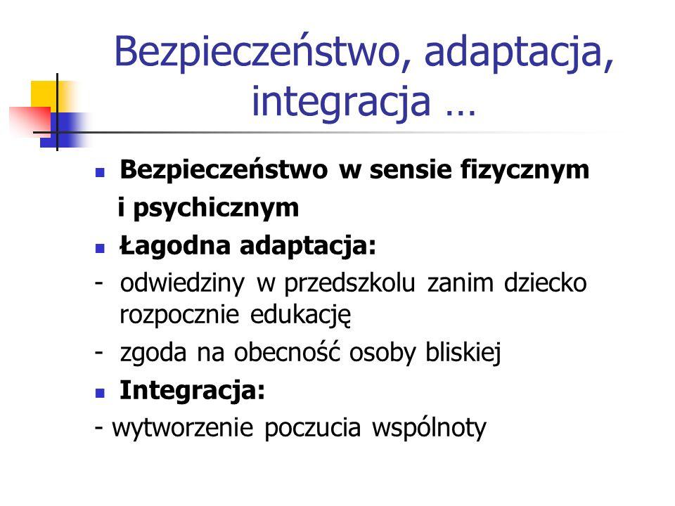 Bezpieczeństwo, adaptacja, integracja …