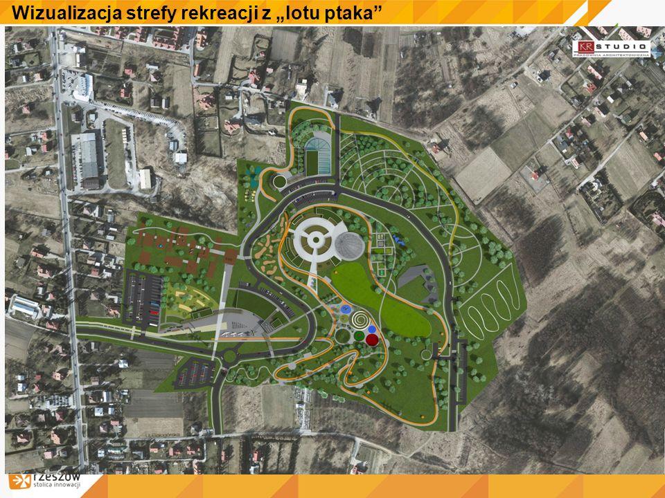 """Wizualizacja strefy rekreacji z """"lotu ptaka"""