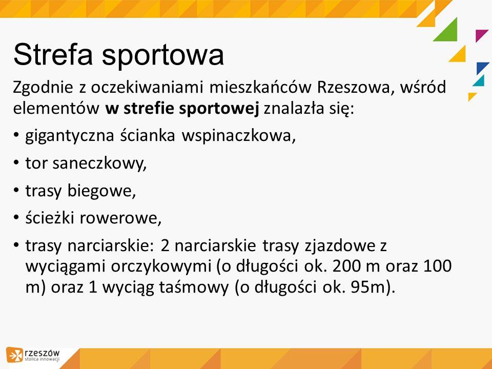 Strefa sportowa Zgodnie z oczekiwaniami mieszkańców Rzeszowa, wśród elementów w strefie sportowej znalazła się: