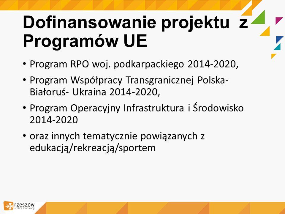 Dofinansowanie projektu z Programów UE