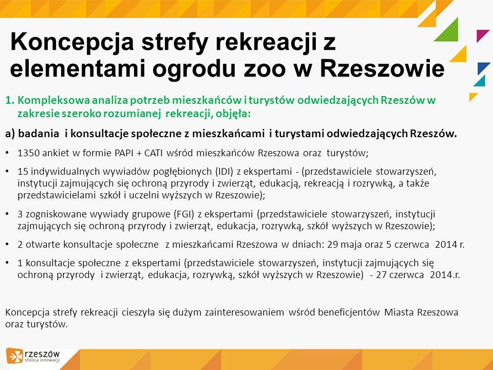 Koncepcja strefy rekreacji z elementami ogrodu zoo w Rzeszowie