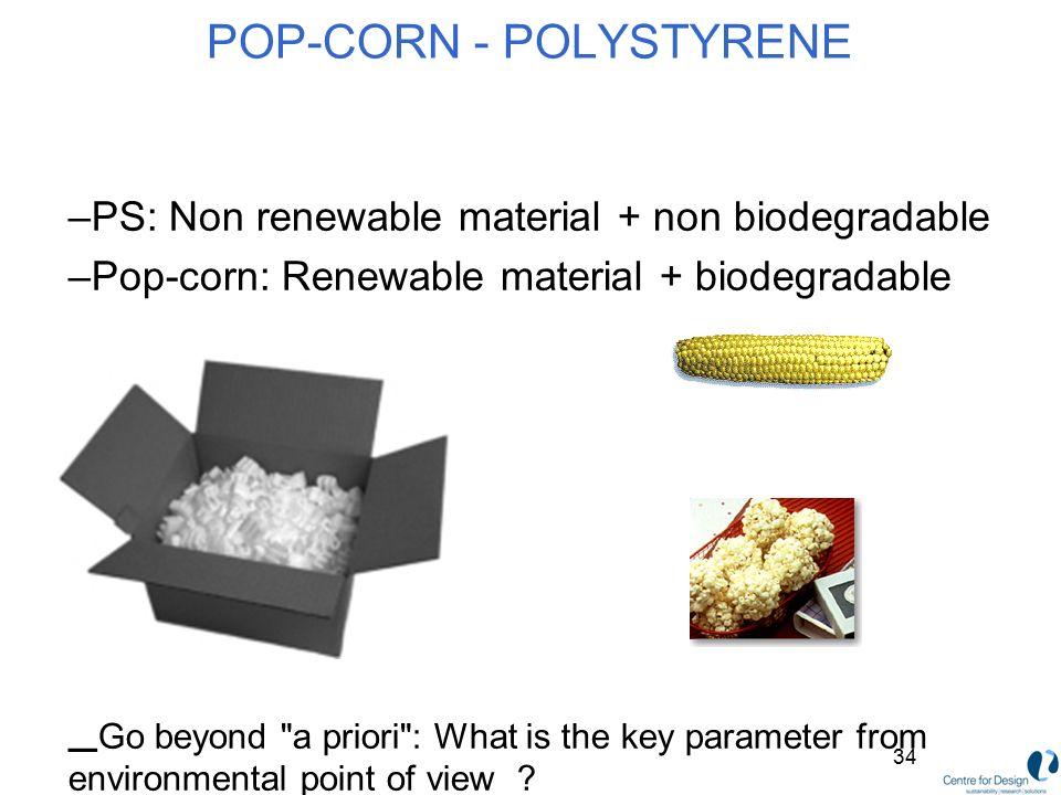 POP-CORN - POLYSTYRENE