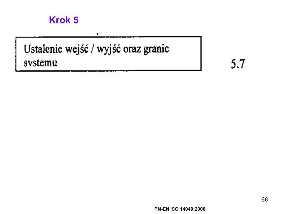 Krok 5 PN-EN ISO 14049:2000