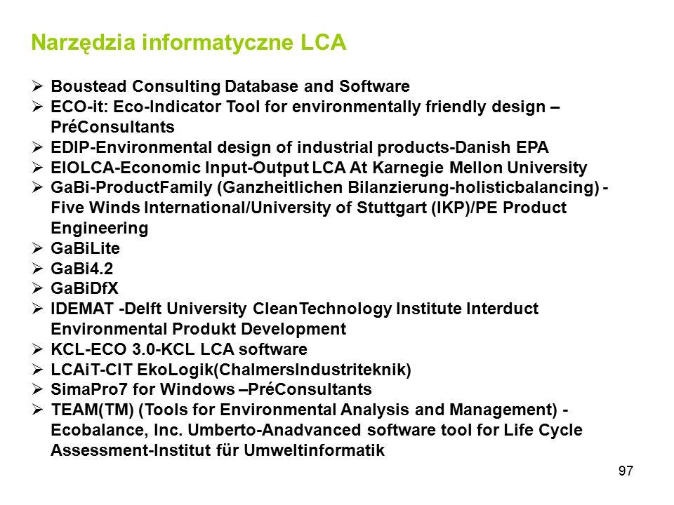 Narzędzia informatyczne LCA
