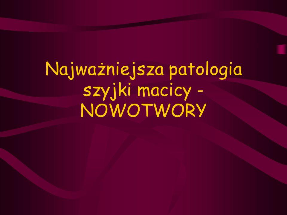 Najważniejsza patologia szyjki macicy - NOWOTWORY