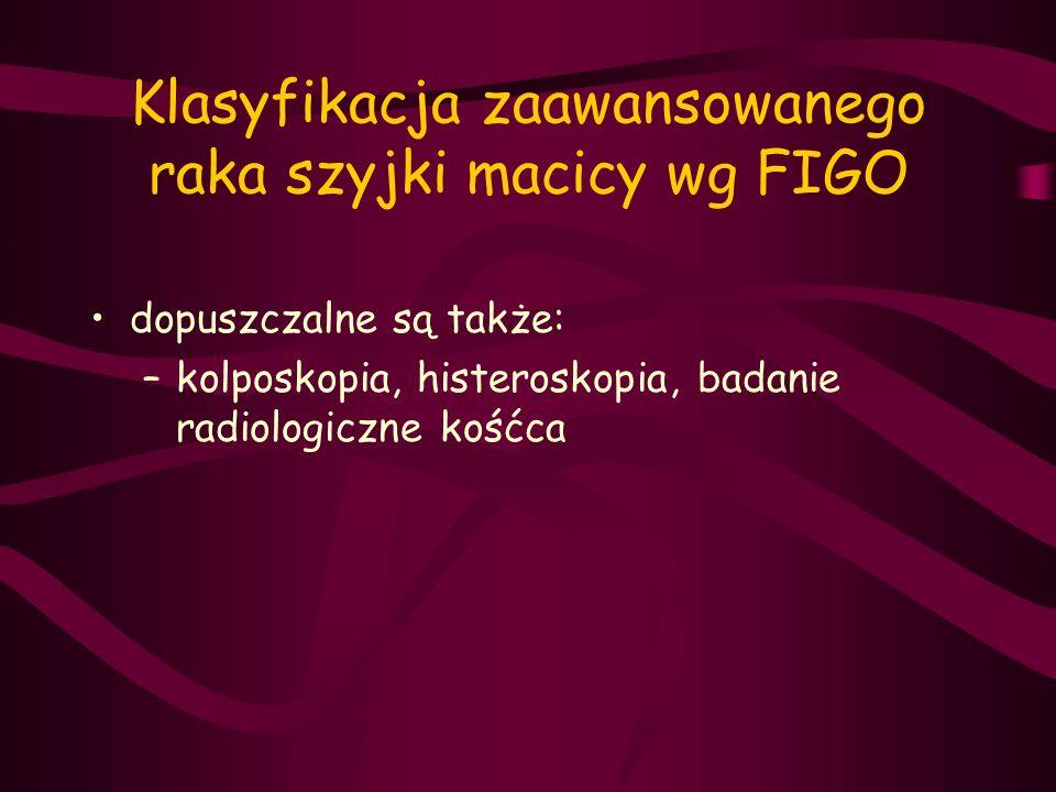 Klasyfikacja zaawansowanego raka szyjki macicy wg FIGO