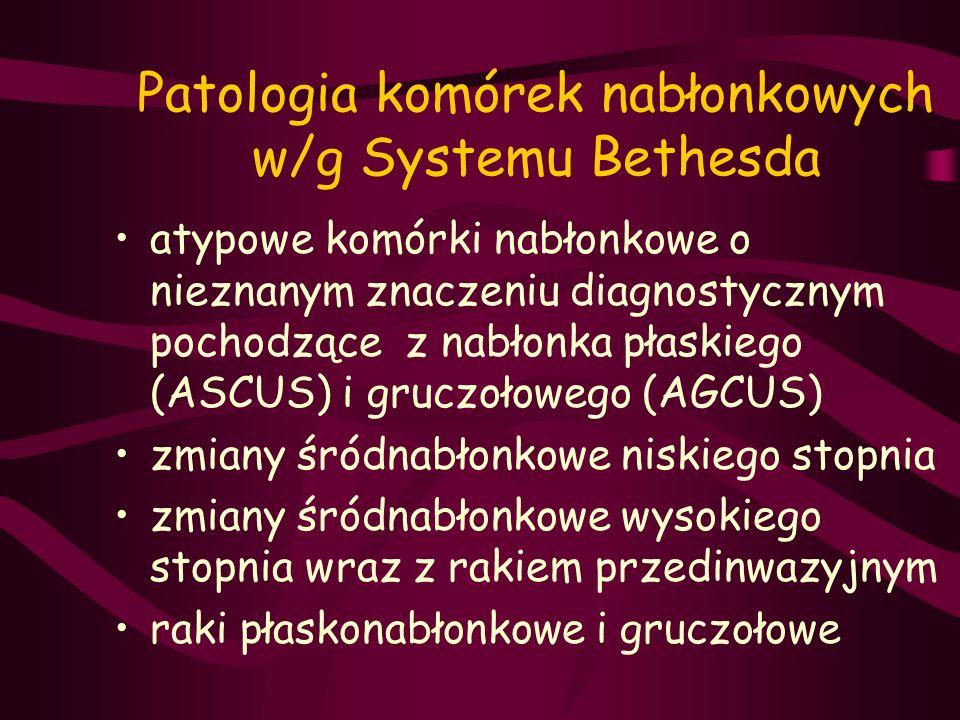 Patologia komórek nabłonkowych w/g Systemu Bethesda