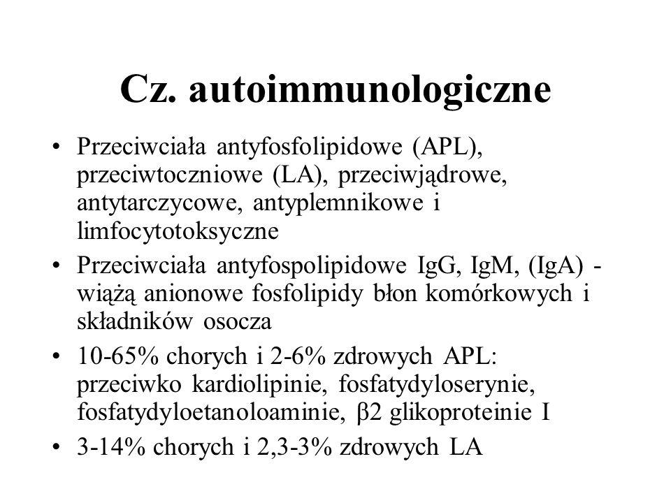 Cz. autoimmunologiczne