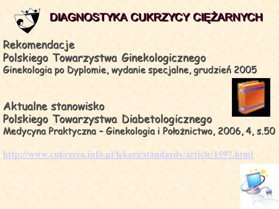 DIAGNOSTYKA CUKRZYCY CIĘŻARNYCH