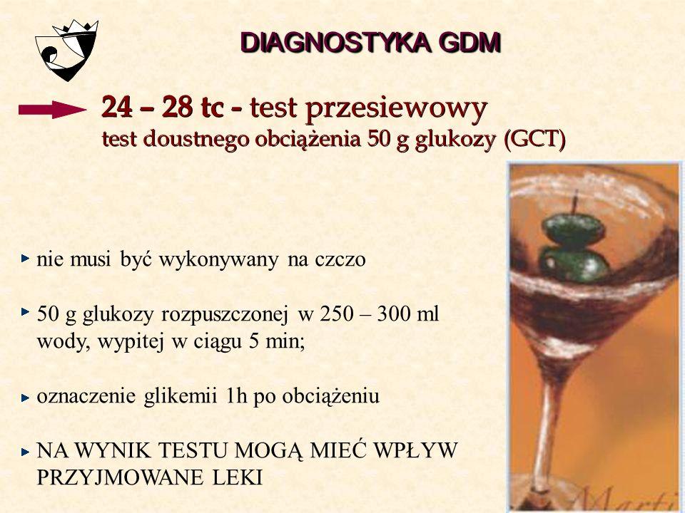 24 – 28 tc - test przesiewowy DIAGNOSTYKA GDM