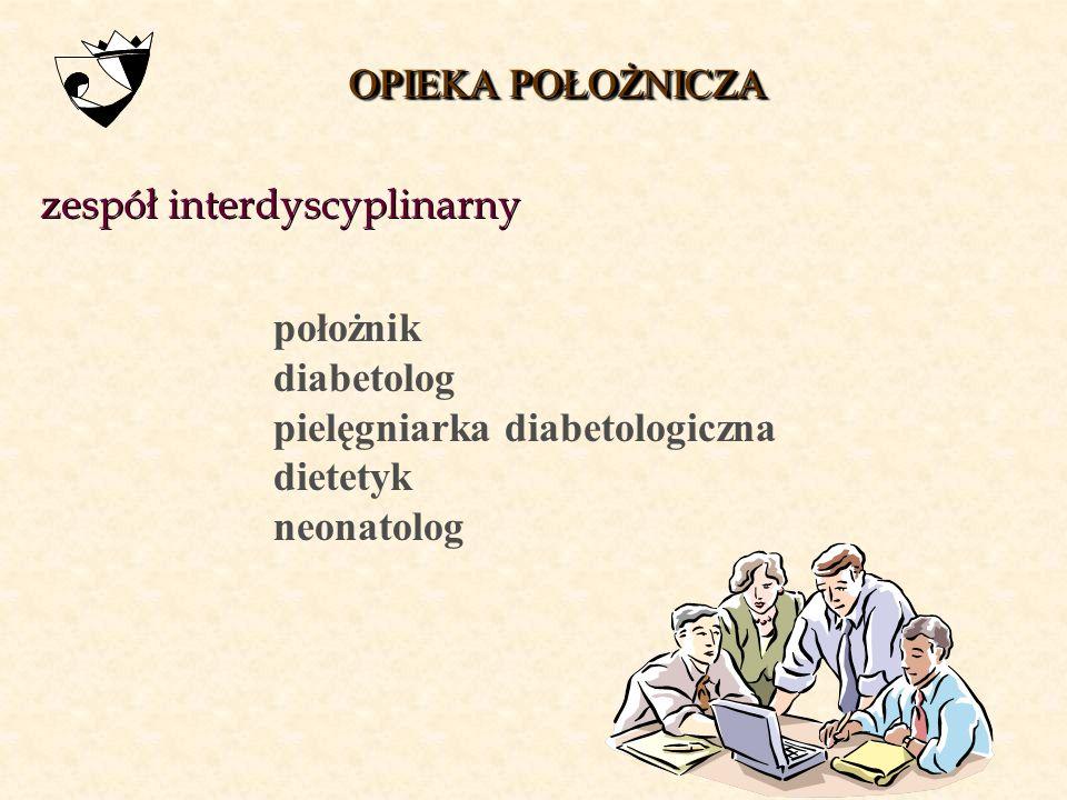 OPIEKA POŁOŻNICZA zespół interdyscyplinarny. położnik. diabetolog. pielęgniarka diabetologiczna.