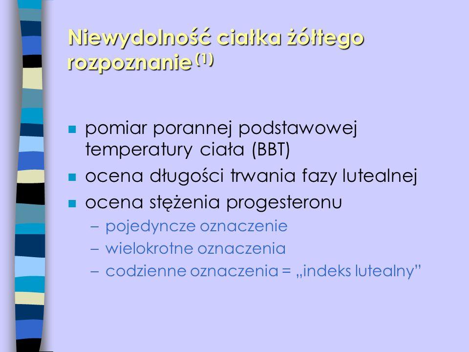 Niewydolność ciałka żółtego rozpoznanie (1)
