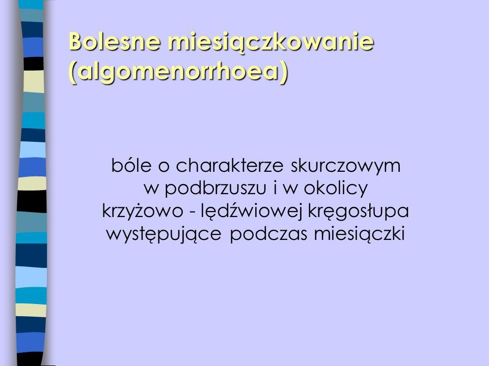 Bolesne miesiączkowanie (algomenorrhoea)