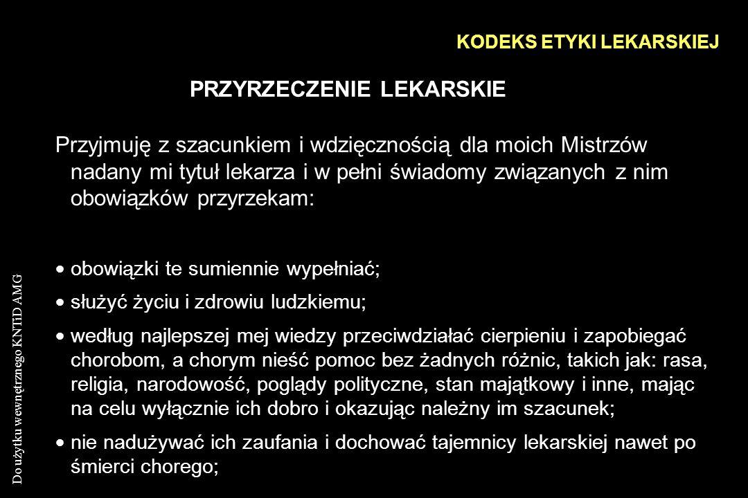 KODEKS ETYKI LEKARSKIEJ