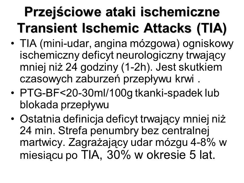 Przejściowe ataki ischemiczne Transient Ischemic Attacks (TIA)