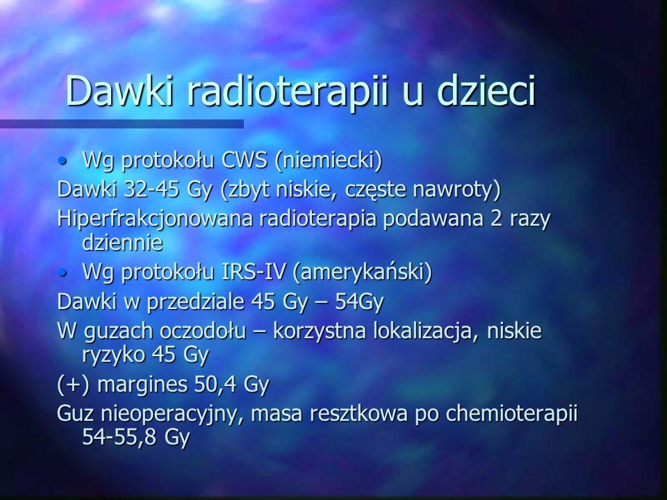 Dawki radioterapii u dzieci