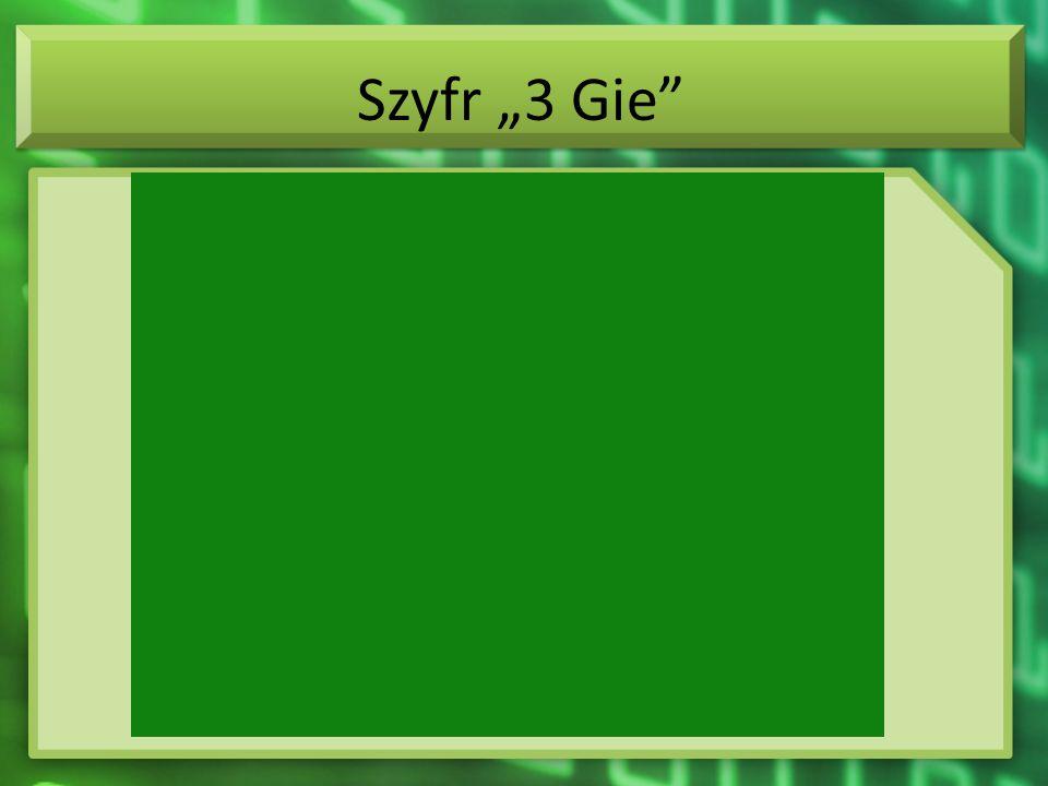 """Szyfr """"3 Gie"""