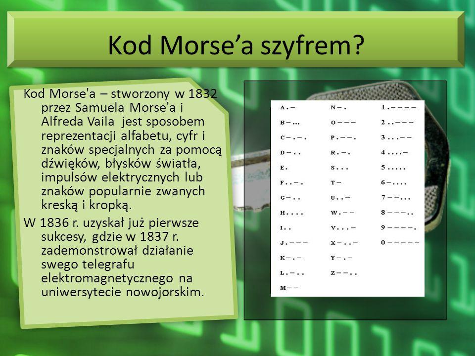 Kod Morse'a szyfrem