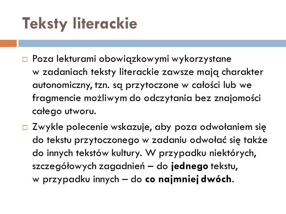 Teksty literackie