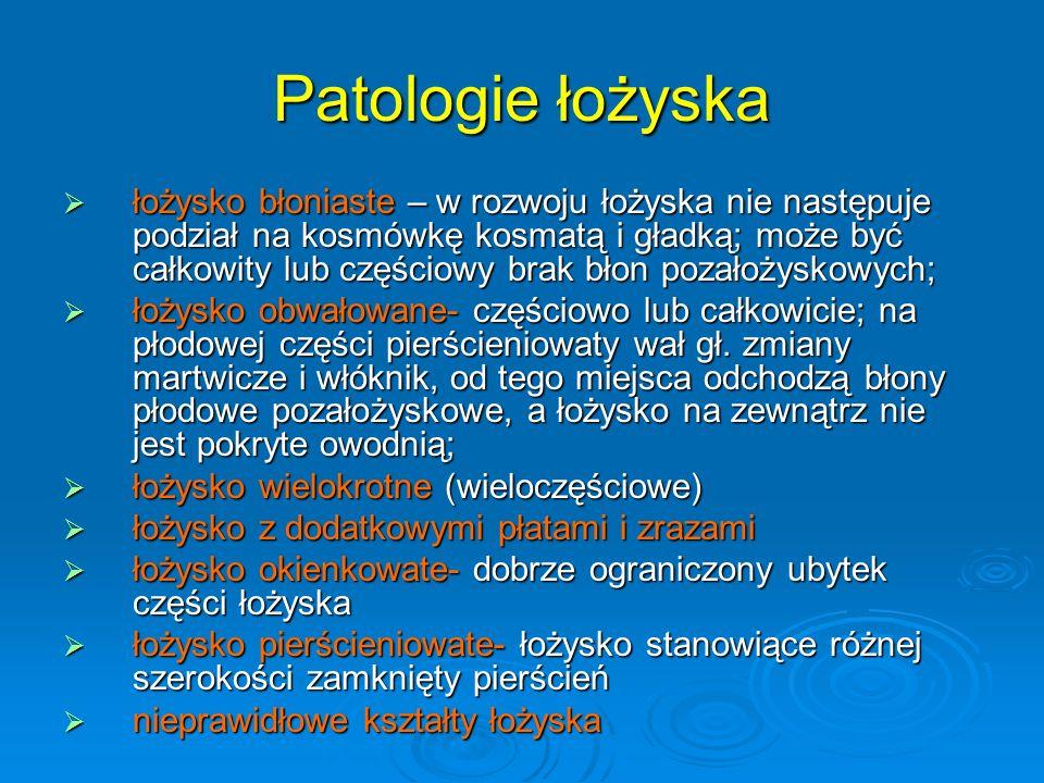 Patologie łożyska
