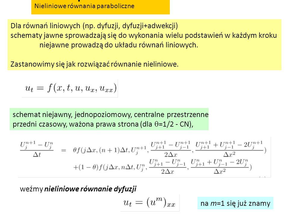 nieliniowe równania paraboliczne