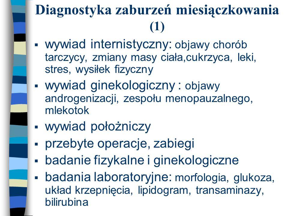 Diagnostyka zaburzeń miesiączkowania (1)