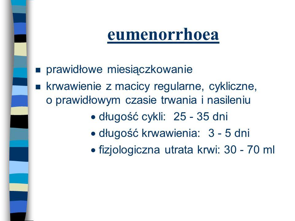 eumenorrhoea prawidłowe miesiączkowanie