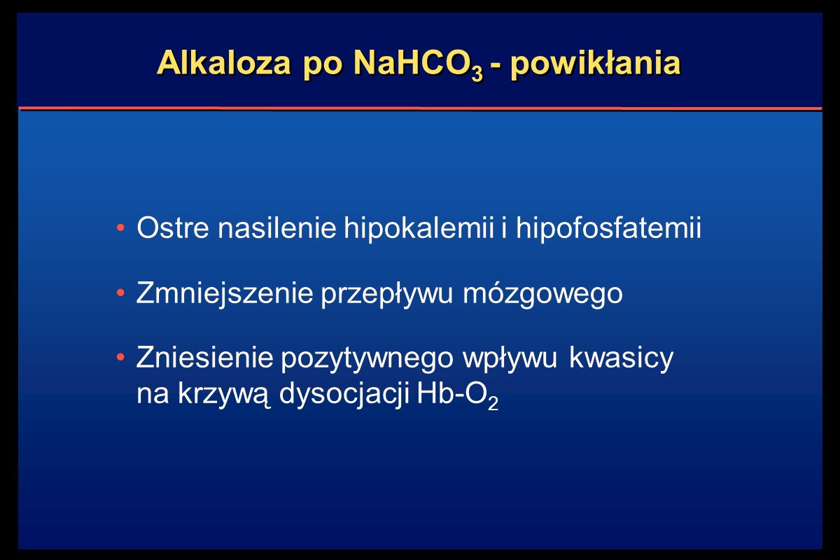 Alkaloza po NaHCO3 - powikłania
