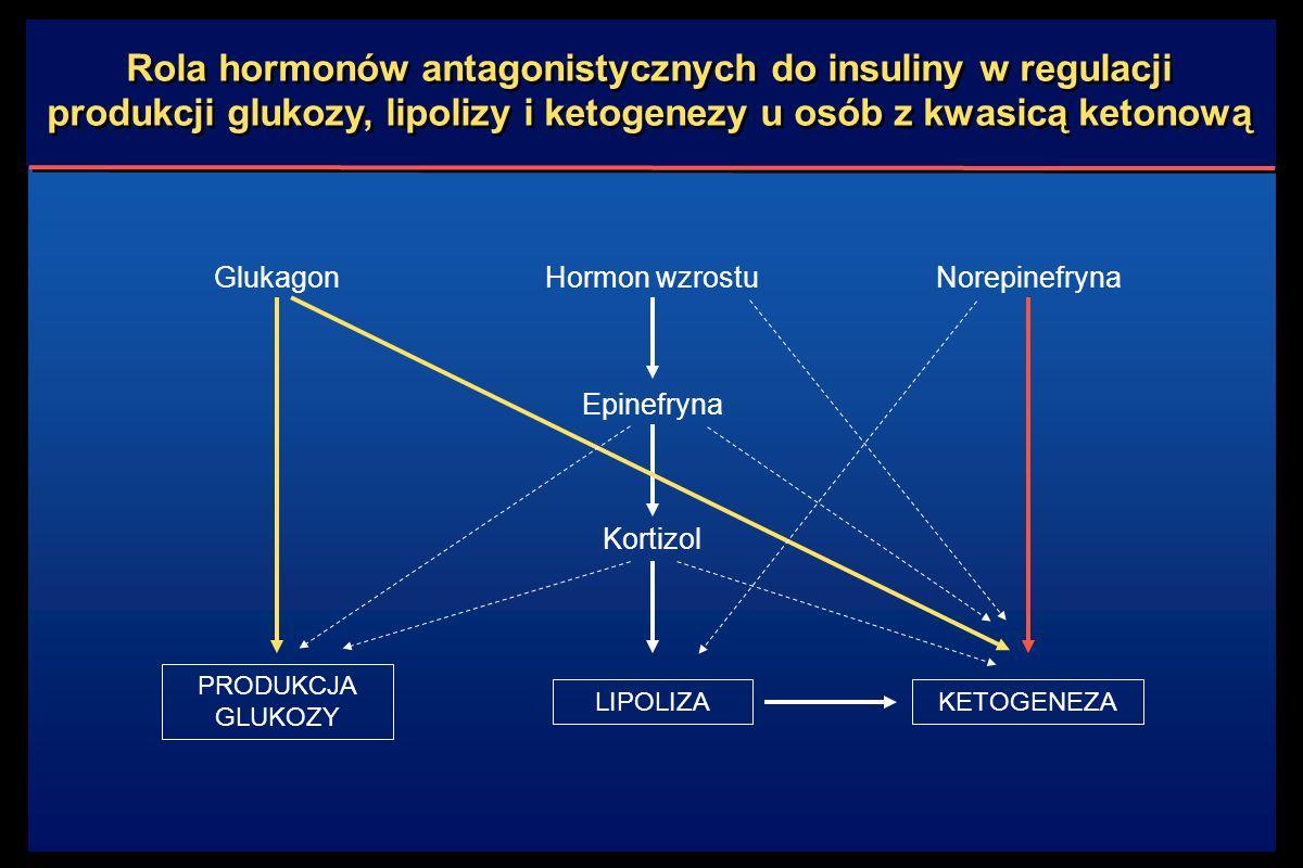 Rola hormonów antagonistycznych do insuliny w regulacji produkcji glukozy, lipolizy i ketogenezy u osób z kwasicą ketonową