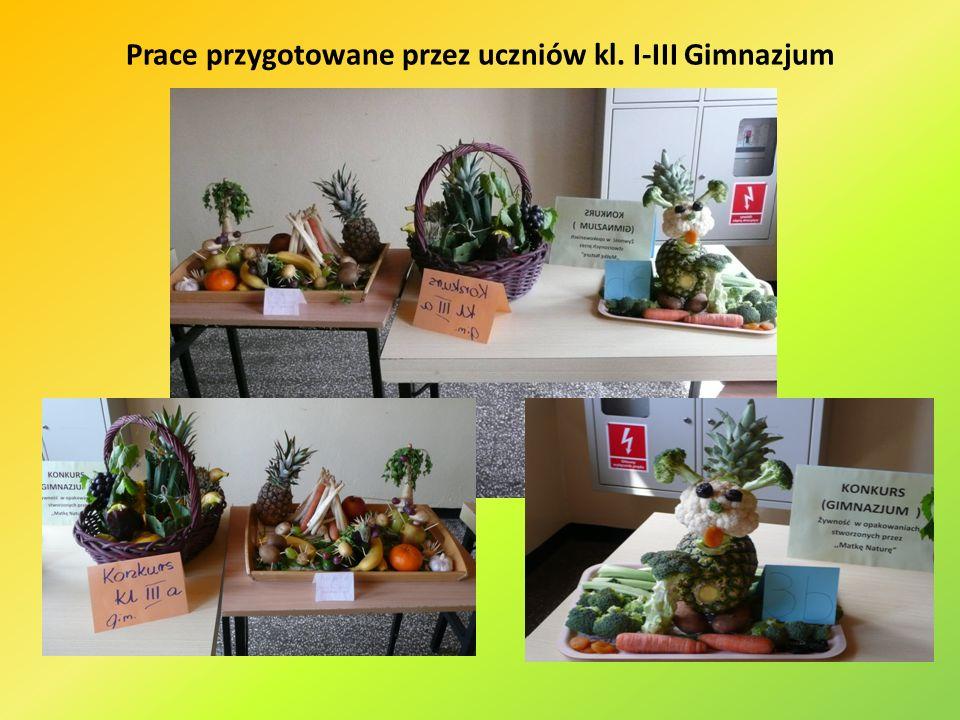 Prace przygotowane przez uczniów kl. I-III Gimnazjum