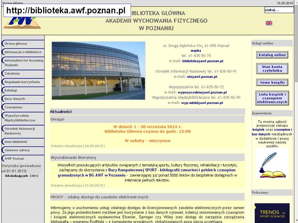 http://biblioteka.awf.poznan.pl