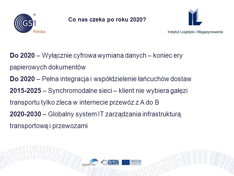 Do 2020 – Pełna integracja i współdzielenie łańcuchów dostaw